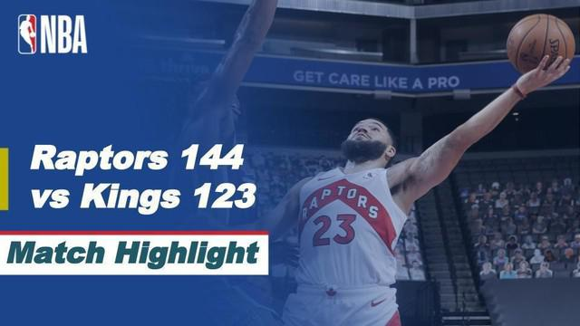 Berita video highlights NBA 2020/2021, Toronto Raptors menang 144-123 atas Sacramento Kings, Sabtu (9/1/2021) siang hari WIB.