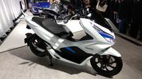 Honda PCX Electrik akan mulai dipasarkah tahun 2018 di Jepang.(Arthur/Liputan6.com)