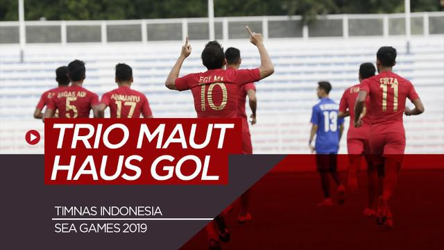Berita video trio maut haus gol Timnas Indonesia di SEA Games 2019.