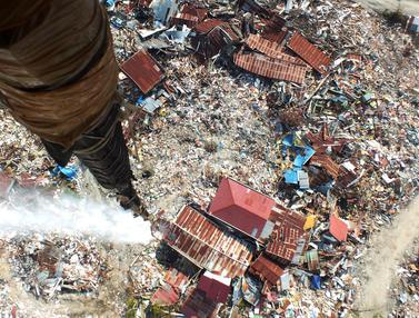 Usai Gempa Palu, Kawasan Terdampak Likuifaksi Disemprot Disinfektan