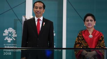 Joko Widodo di upacara pembukaan Asian Games 2018