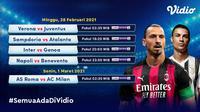 Pertandingan Serie A pekan ke-24 dapat disaksikan di Vidio. (Dok. Vidio)
