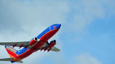 Ilustrasi Pesawat Southwest Airlines (AFP)