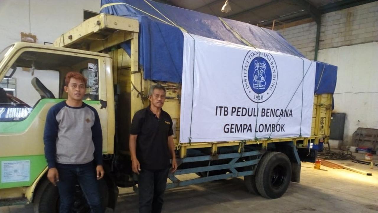 Tim ITB kirimkan bantuan unit instalasi air ke Lombok. Foto: Dok. Humas ITB/Huyogo Simbolon