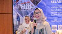 Wakil Ketua Komisi X DPR RI Hetifah Sjaifudian menjadi pembicara yang diadakan Kementerian Pariwisata dan Ekonomi Kreatif di Hotel Best Western Senayan, Jakarta, Senin (2/12/2019). foto: istimewa