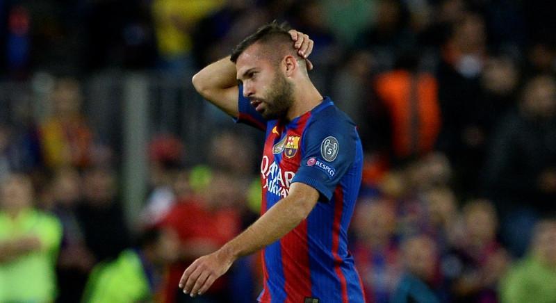 Jordi Alba kembali ke Barcelona pada 2012 setelah berpisah dengan klub tersebut selama tujuh tahun. (AFP/Josep Lago)