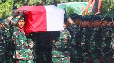 Ilustrasi prajurti TNI gugur.