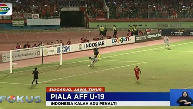Di babak tos-tosan tim asuhan Indra Sjafrie harus mengakui keunggulan malaysia 2-3. Dari lima penendang, hanya Luthfi Kamal Baharsyah dan Todd Rivaldo Ferre yang sukses mencetak gol.