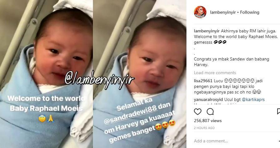 Sandra Dewi melahirkan anak pertama [foto: instagram.com/lambenyinyir]