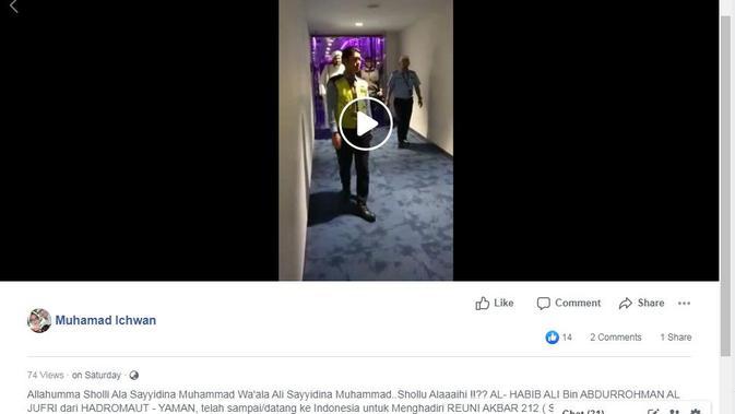 [Cek Fakta] Ulama Tenar Habib Ali Aljufri Sengaja Datang ke Indonesia Untuk Hadiri Reuni 212, Benarkah?