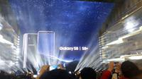 Samsung Galaxy S8 dan S8 Plus resmi diluncurkan di kota New York. (Liputan6.com/ Iskandar)