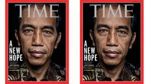 Majalah TIME menjadikan potret Jokowi sebagai sampul depan edisi 27 Oktober 2014.