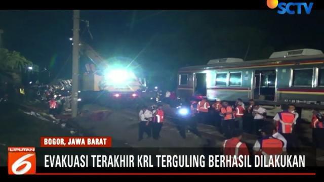 Dengan selesainya evakuasi ini, maka PT KAI memastikan jalur KRL komuterline dari Stasiun Bogor maupun sebaliknya hanya bisa dilalui satu jalur saja.