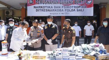 Pemusnahan Barang Bukti Narkoba di Polda Bali