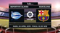 La Liga: Deportivo Alaves vs Barcelona. (Bola.com/Dody Iryawan)