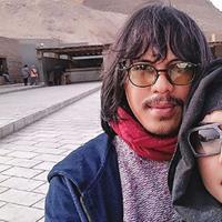 Mayky Wongkar dan Ria Irawan saat berbulan madu di Mesir (Instagram/@maykywongkar)