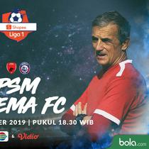Shopee Liga 1 - PSM Makassar Vs Arema FC - Head to Head Pelatih (Bola.com/Adreanus Titus)