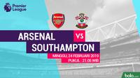 Premier League: Arsenal Vs Southampton (Bola.com/Adreanus Titus)