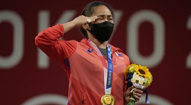 Foto: Setelah Menunggu 97 Tahun, Filipina Raih Medali Emas Pertama Lewat Hidilyn Diaz di Cabang Angkat Besi Putri Olimpiade Tokyo 2020