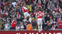 Winger Arsenal, Alexis Sanchez usai jebol gawang MU (Reuters/Liputan6)