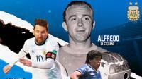 GOAT of Argentina: Lionel Messi, Maradona, Alfredo Di Stefano (Bola.com/Adreanus Titus)