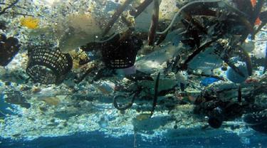 Potret sampah plastik di lautan (AFP)