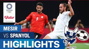 Berita video highlights pertandingan sepak bola putra Olimpiade Tokyo 2020 antara Mesir melawan Spanyol di Sapporo Dome, Kamis (22/7/2021) sore WIB.