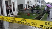 Penembakan IRT di Medan, Selasa (18/10/2016). (Reza Perdana/Liputan6.com)