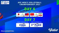 Jadwal dan Live Streaming Asian Men's Volleyball Championship 2021 Babak Final di Vidio. (Sumber : dok. vidio.com)
