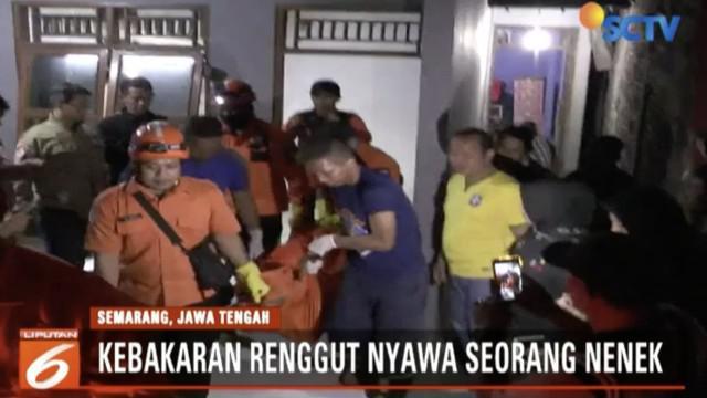 Seorang nenek menjadi korban meninggal dunia atas peristiwa kebakaran di Desa Kutoharjo, Kecamatan Kaliwungu Kendal, Semarang, Jawa Tengah.