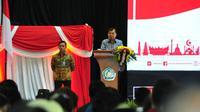 Wakil Presiden Jusuf Kalla (JK) meresmikan Pembukaan Festival Kebangsaan II 2019 di Universitas Muhammadiyah Malang, Sabtu (6/4/2019).