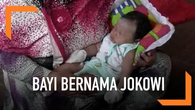 Bayi di Solo, Jawa Tengah diberi nama Joko Widodo Ma'ruf oleh orang tuanya. Sang Ayah merupakan pendukung dari Joko Widodo.