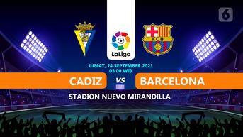 Sudah Mulai, Link Live Streaming Liga Spanyol Cadiz vs Barcelona di Vidio