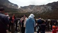 Menara Pandang Gunung Papandayan, Garut (Liputan6.com/Jayadi Supriadin)