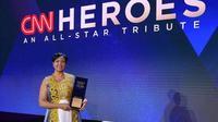 Freweini Mebrahtu menerima penghargaan dari CNN sebagai pahlawan tahun ini. (Hero of The Year 2019) (dok. Instagram @ed_habesha/https://www.instagram.com/p/B519taTHZNp/Adhita Diansyavira)