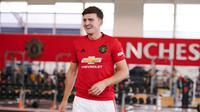 Manchester United baru saja mengumumkan rekrutan anyar Harry Maguire, Senin (5/8/2019). Doc: Manutd.