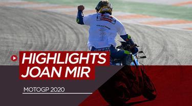 Berita video highlights Joan Mir musim ini, rider Suzuki yang raih gelar juara MotoGP 2020