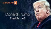 Banner Presiden AS Donald Trump (Liputan6.com/Triyasni)