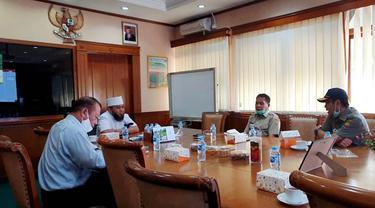 Datangi Kantor Kementrian Pertanian Wali Kota Bengkulu Minta Bibit Padi dan Jagung