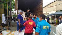 BNN menggerebek sebuah gudang beras di Jalan Prabu Siliwangi, RT 05/15, Kecamatan Cibodas, Kota Tangerang,