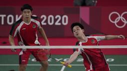 Memulai Olimpiade Tokyo, Kevin/Marcus berstatus ganda putra nomor satu dunia. Sementara Ben/Sean, berada di peringkat ke-18. (Foto: AP/Dita Alangkara)