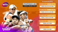 Streaming WTA : Porsche Tennis Grand Prix 2021 Pekan Ini di Vidio. (Sumber : dok. vidio.com)
