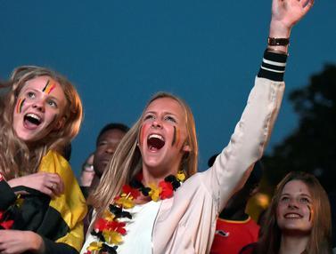 Fans Cantik Belgia dan Sorakan Penyemangat di Piala Eropa 2016