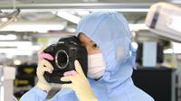 Foto: Aktivitas di Pabrik Canon Inc, Oita, Jepang