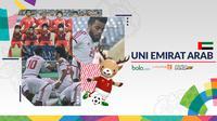 Tim Sepak Bola Putra Uni Emirat Arab Asian Games 2018 (Bola.com/Adreanus Titus)