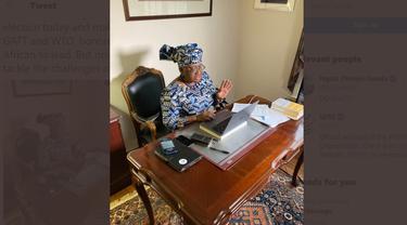 Wanita pertama yang pimpin WTO Ngozi Okonjo-Iweala.