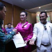 Penyanyi asal Cikarang ini jadi Duta Pancasila berkat usulan dari Fraksi Partai Kebangkitan Bangsa.  (Adrian Putra/Bintang.com)