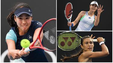 Sejumlah petenis cantik dunia turut ambil bagian pada Turnamen Australia Open 2020, mulai dari Nao Hibino hingga Julia Goerges. Tak hanya berparas cantik para petenis itu juga memiliki skill yang berkelas dunia. (Kolase Foto dari AFP)