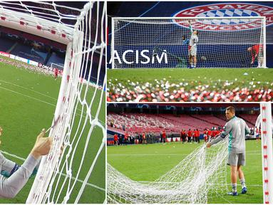 Aksi mengejutkan dilakukan oleh kiper Bayern Munchen, Manuel Neuer, usai laga final melawan PSG. Kapten Die Roten itu melakukan ritual menggunting jaring gawang sebagai bentuk perayaan menjuarai Liga Champions 2019-2020.