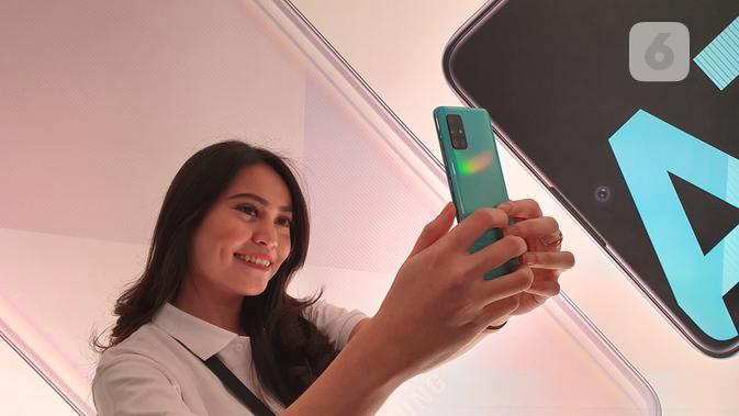 Samsung Galaxy A71. Liputan6.com/ Agustin Setyo W